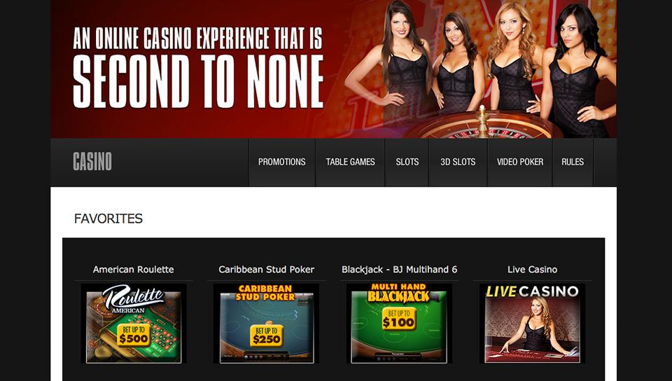 betonline casino user interface