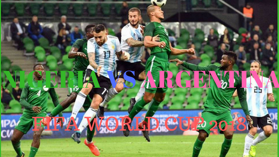 Nigeria VS Argentina fifa word cup match