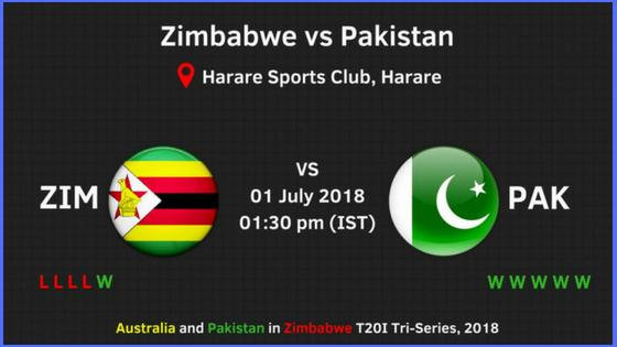 Zimbabwe vs Pakistan Ist t20 match