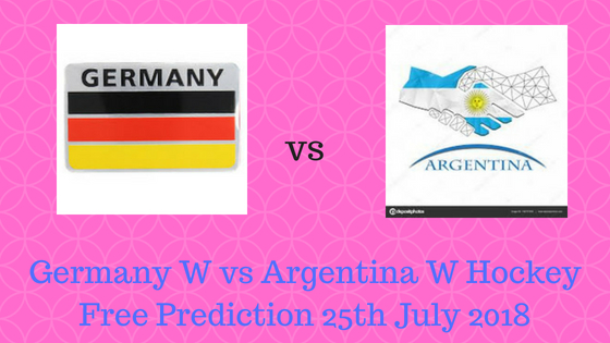 Germany W vs Argentina W Hockey Free Prediction 25th July 2018