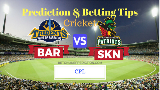 Barbados Tridents vs St Kitts and Nevis Patriots 16th T20 Prediction and Free Betting Tips 26th August 2018 (1)