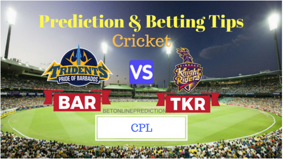 Barbados Tridents vs Tribago Knight Riders 18th T20 Prediction and Free Betting Tips 27th August 2018 (1)