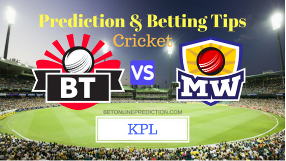 Bellary Tuskers vs Mysuru Warriors 5th T20 Prediction and Free Betting Tips 20th August 2018