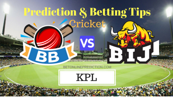 Bengaluru Blasters vs Bijapur Bulls 8th T20 Prediction and Free Betting Tips 22th August 2018