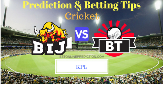 Bijapur Bulls vs Bellary Tuskers 14th T20 Prediction and Free Betting Tips 26th August 2018