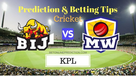 Bijapur Bulls vs Mysuru Warriors 10th T20 Prediction and Free Betting Tips 1st September 2018