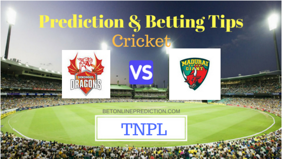 DDD vs MADURAI Qualifier 1 T20 Prediction and Free Betting Tips 7th August 2018