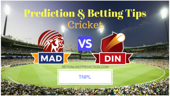 Dindigul Dragons vs Madurai Panthers FINAL T20 Prediction and Free Betting Tips 12th August 2018