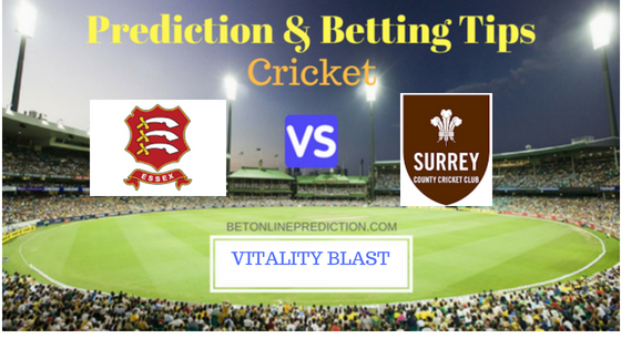 Essex vs Surrey South Group T20 Prediction and Free Betting Tips 5th August 2018