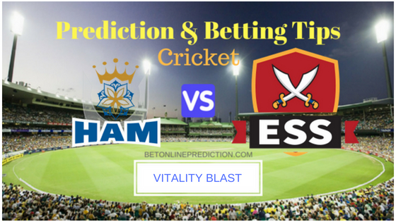 Hampshire vs Essex South Group T20 Prediction and Free Betting Tips 12th August 2018