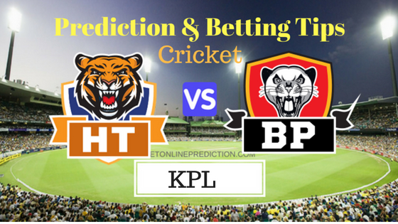 Hubli Tigers vs Belagavi Panthers 9th T20 Prediction and Free Betting Tips 23th August 2018
