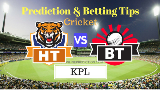 Hubli Tigers vs Bellary Tuskers 7th T20 Prediction and Free Betting Tips 22th August 2018