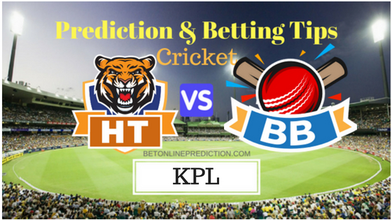 Hubli Tigers vs Bengaluru Blasters 18th T20 Prediction and Free Betting Tips 31th August 2018