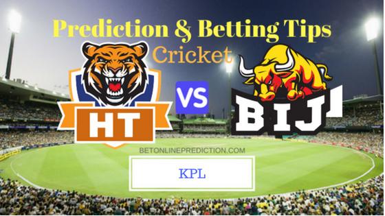 Hubli Tigers vs Bijapur Bulls 2nd T20 Prediction and Free Betting Tips 16th August 2018