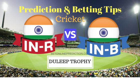 India Red vs India Blue 2nd Match Prediction and Free Betting Tips 23th August 2018