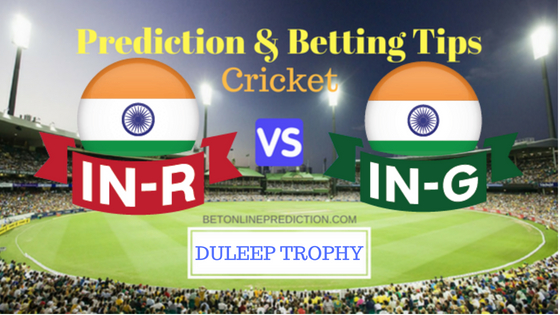 India Red vs India Green 1st TEST MATCH Prediction and Free Betting Tips 17th August 2018