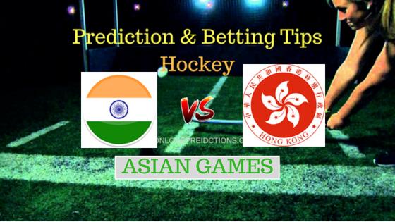 India vs Hong Kong Hockey Free Prediction 22th August 2018