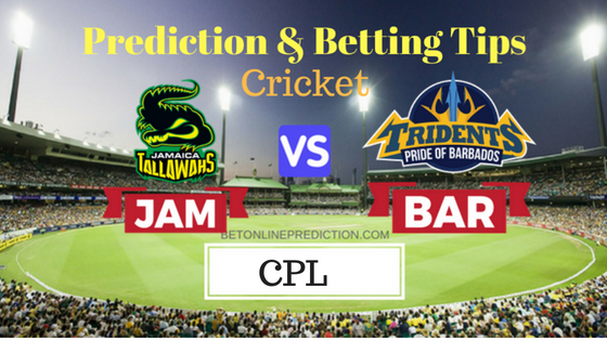 Jamaica Tallawahs vs Barbados Tridents 14th T20 Prediction and Free Betting Tips 23th August 2018 (1)