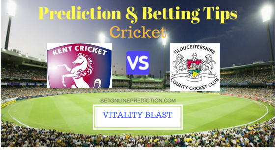 Kent vs Gloucestershire South Group T20 Prediction and Free Betting Tips 5th August 2018