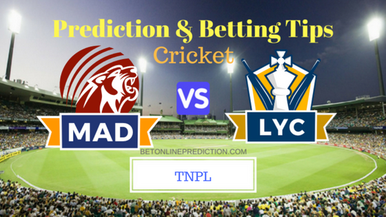 Madurai Panthers vs Lyca Kovai Kings Qualifier 2 T20 Prediction and Free Betting Tips 10th August 2018