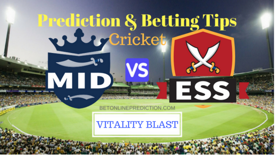 Middlesex vs Essex South Group T20 Prediction and Free Betting Tips 16th August 2018