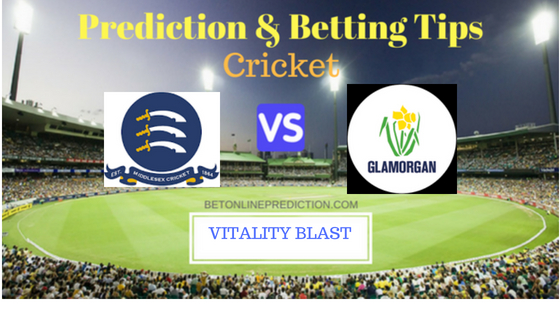 Middlesex vs Glamorgan South Group T20 Prediction and Free Betting Tips 5th August 2018