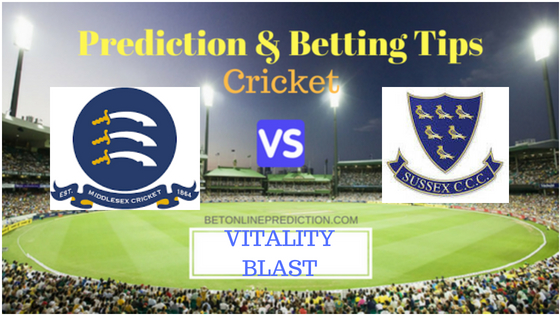 Middlesex vs Sussex South Group T20 Prediction and Free Betting Tips 2nd August 2018