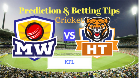 Mysuru Warriors vs Hubli Tigers 13th T20 Prediction and Free Betting Tips 26th August 2018 (1)