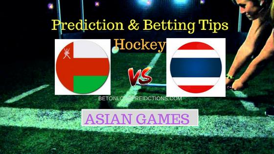 Oman vs Thailand Hockey Free Prediction 24th August 2018