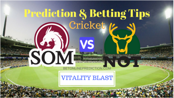 Somerset vs Nottinghamshire 4th Quarter-Final T20 Prediction and Free Betting Tips 26th August 2018