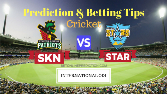 St Kitts and Nevis Patriots vs St Lucia Stars 21th T20 Prediction and Free Betting Tips 31th August 2018