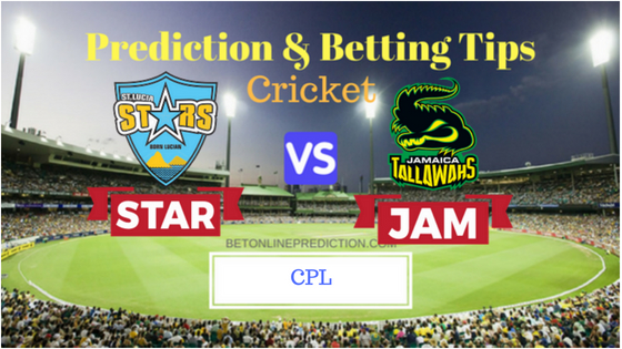 St Lucia Stars vs Jamaica Tallawahs 17th T20 Prediction and Free Betting Tips 26th August 2018