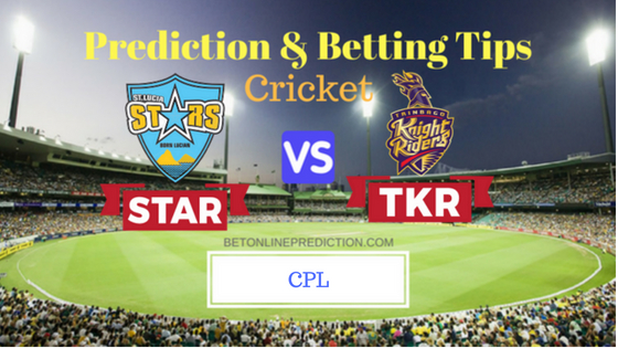 St Lucia Stars vs Trinbago Knight Riders 9th T20 Prediction and Free Betting Tips 17th August 2018