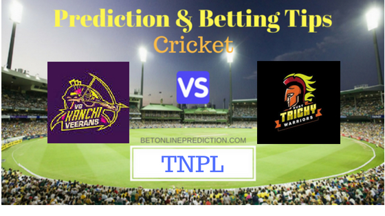 VB Kanchi Veerans vs Ruby Trichy Warriors 27th T20 Match Prediction and Free Betting Tips 5th August 2018 (1)
