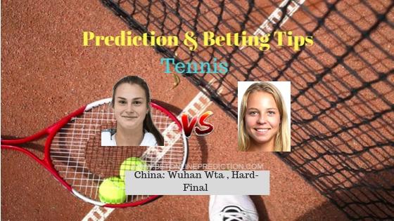 Aryna Sabalenka vs Anett Kontaveit Tennis Free Prediction 29th September 2018