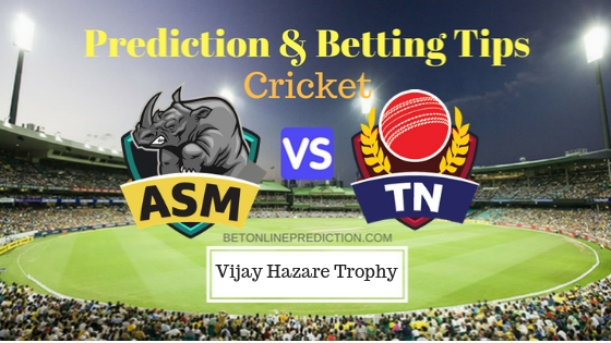 Assam vs Tamil Nadu Round 7, Elite Group C ODI Prediction and Free Betting Tips 27th September 2018 (1)