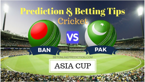 Bangladesh vs Pakistan Super Four, Match 6 ODI Prediction and Free Betting Tips 26th September 2018
