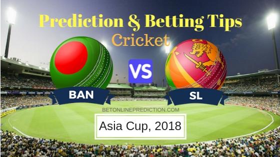 Bangladesh vs Sri Lanka 1st ODI Prediction and Free Betting Tips 15th September 2018