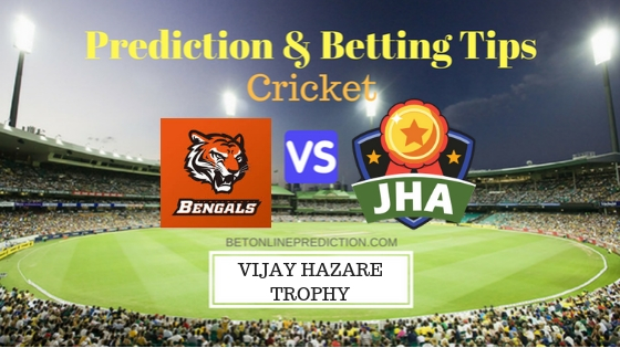 Bengal vs Jharkhand Round 10, Elite Group C ODI Prediction and Free Betting Tips 1st October 2018