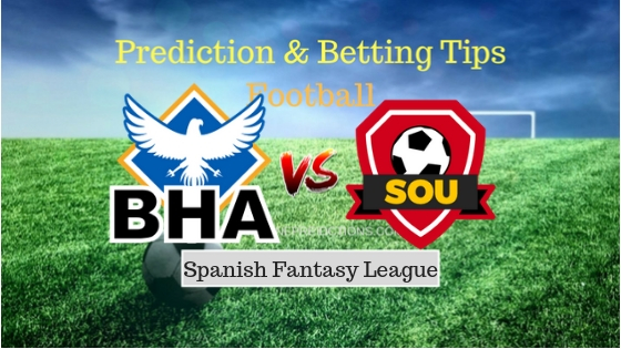 Brighton Hove Albion vs Southampton FC Prediction and Free Betting Tips 17th september 2018