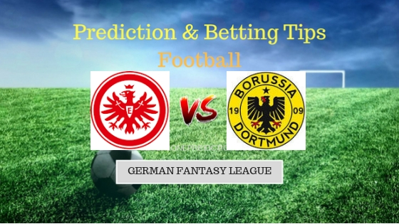 Eintracht Frankfurt vs Borussia Dortmund Prediction and Free Betting Tips 15th September 2018