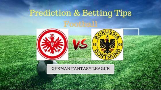 Eintracht Frankfurt vs Borussia Dortmund Prediction and Free Betting Tips 15th September 2018