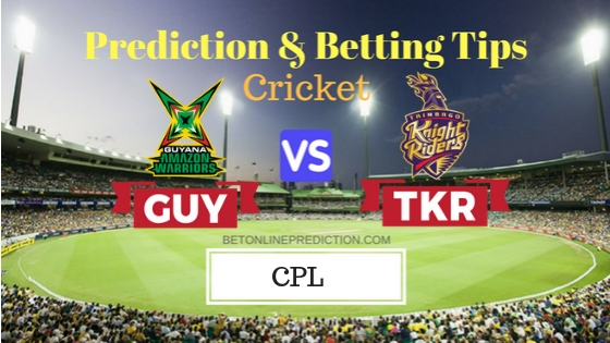 Guyana Amazon Warriors vs Trinbago Knight Riders 30th T20 Prediction and Free Betting Tips 10th September 2018 (1)
