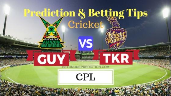 Guyana Amazon Warriors vs Trinbago Knight Riders Final T20 Prediction and Free Betting Tips 17th September 2018