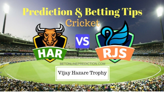 Haryana vs Rajasthan Round 7, Elite Group C ODI Prediction and Free Betting Tips 27th September 2018