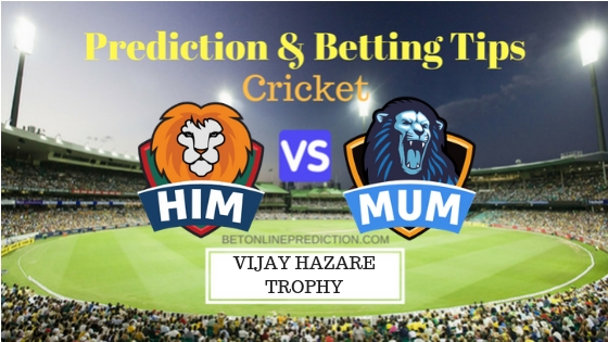 Himachal Pradesh vs Mumbai Round 8, Elite Group A ODI Prediction and Free Betting Tips 30th September 2018