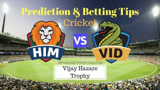 Himachal Pradesh vs Vidarbha Round 6, Elite Group A ODI Prediction and Free Betting Tips 26th September 2018
