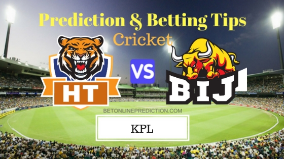 Hubli Tigers vs Bijapur Bulls 2nd Semi-Final T20 Prediction and Free Betting Tips 5th September 2018