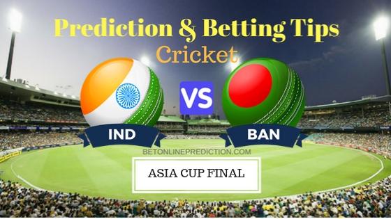 India vs Bangladesh Final ODI Prediction and Free Betting Tips 28th September 2018