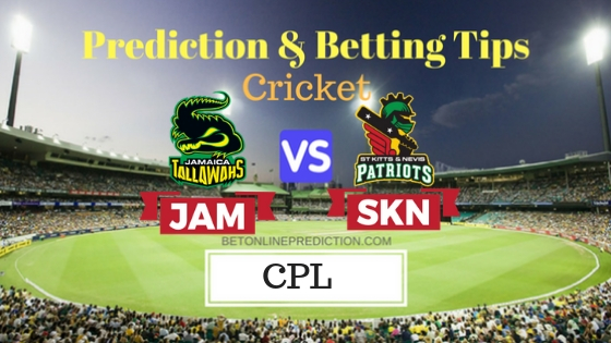 Jamaica Tallawahs vs St Kitts and Nevis Patriots Eliminator T20 Prediction and Free Betting Tips 13th September 2018